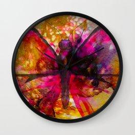 Vivid Butterfly Wall Clock