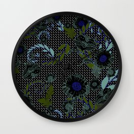 Winter Florals Wall Clock