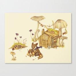 Harvey the Greedy Chipmunk Canvas Print
