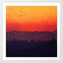 Five Shades of Sunset Art Print