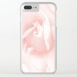 Floral coral - Romantic illusion of roses in seamless stripes Clear iPhone Case