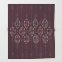Vintage Burgundy vertical Throw Blanket