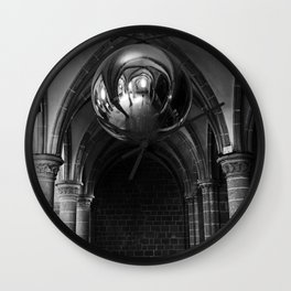 Silent Moment at Mont Saint-Michel Wall Clock
