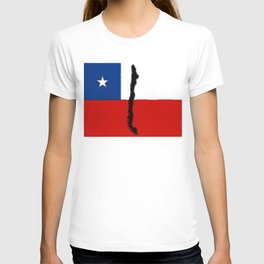 Chilean Flag with Map of Chile T-shirt