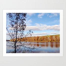 Minnesota Fall on the River Art Print
