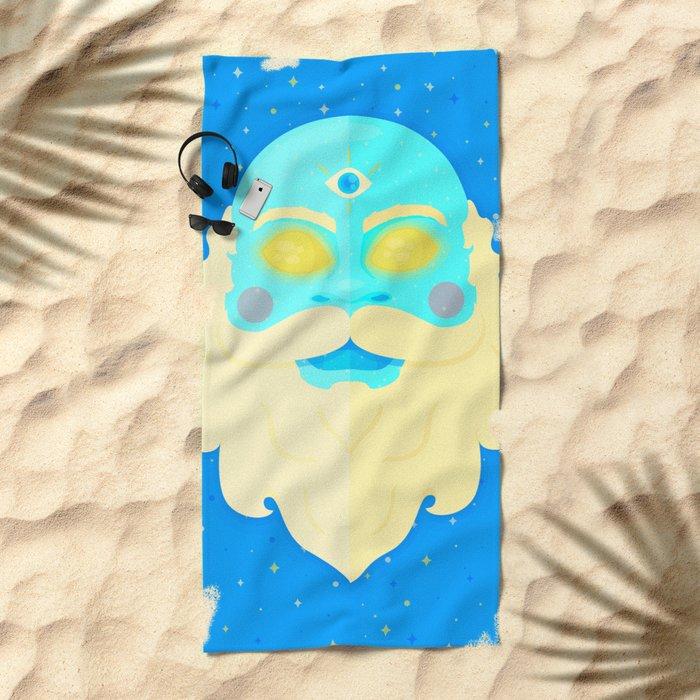 Santa Cosmos Beach Towel