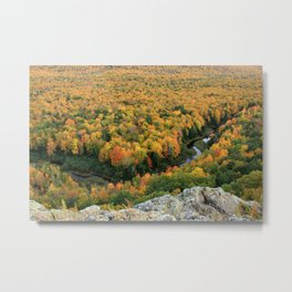 Autumn Colors at the Carp River Valley, Porcupine Mountains State Park, Upper Peninsula, MI Metal Print