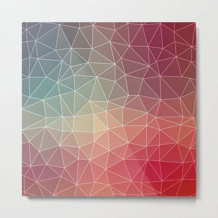 Abstract Geometric Triangulated Design Metal Print