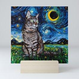 Tabby Night Mini Art Print
