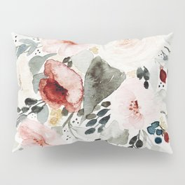 Loose Watercolor Bouquet Pillow Sham