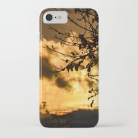 black and gold iPhone & iPod Cases featuring Black & Gold by Imaginatio
