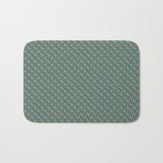 Graphic Old Fashioned Leaf Lattice Pattern Bath Mat