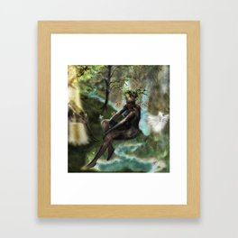 Woodwoses and the dream Forest [Single Panel version] Framed Art Print