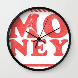 Money Monets Gift Charcoal Taler Dough Penunze Wall Clock