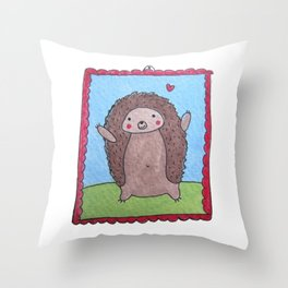 Cute Hedgehog Throw Pillow