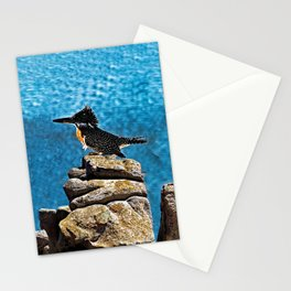 Giant King Fisher African Bird Portrait Stationery Cards