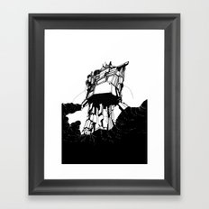 unobtrusive location Framed Art Print