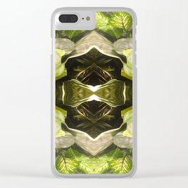 357 - Abstract Garden Design Clear iPhone Case