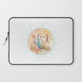 Cactus and Sun Art Illustration Laptop Sleeve