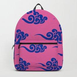 Chinese Wind Symbols in Blue + Pink Porcelain Backpack
