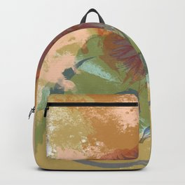 Autumnal Brushstrokes, Abstract Floral Art Backpack