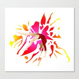 Power of Gymnastics Canvas Print