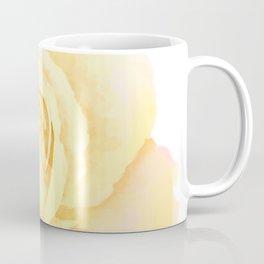 Blushing Yellow Rose Coffee Mug