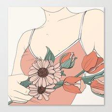 Daisies & Tulips Canvas Print