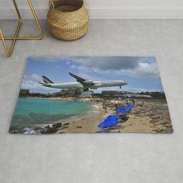 Maho beach ,airport Sint Maarten island Rug