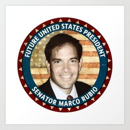 Future President Marco Rubio Art Print