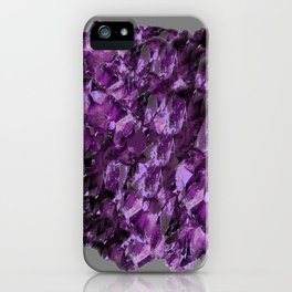 AMETHYST MINE CRYSTAL NODULE iPhone Case