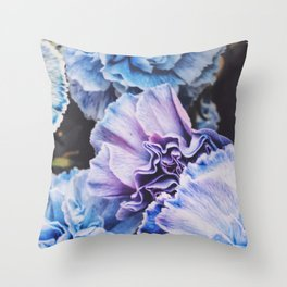 Pike Market Winter Flowers in Seattle, Washington - Bottom Half Throw Pillow