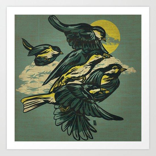 The Gatherers Art Print