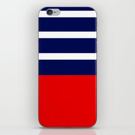 Summer Patio Perfect, Red, White & Navy iPhone Skin