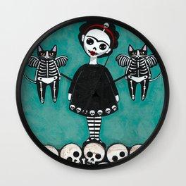 Frida y Gatos 8 Wall Clock