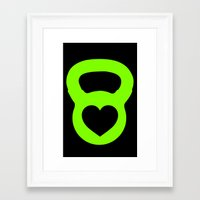 crossfit Framed Art Prints featuring Crossfit Love by AimHigh