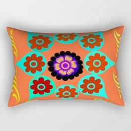 Talavera Tile Orange Rectangular Pillow