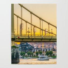 Pittsburgh Baseball Sunset Print Poster