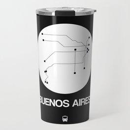 Buenos Aires White Subway Map Travel Mug