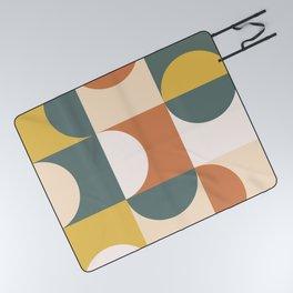 Mid Century Modern Geometric 23 Picnic Blanket