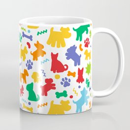 Colorful Dogs Pattern Coffee Mug