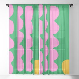 Spring Whimsy Sheer Curtain