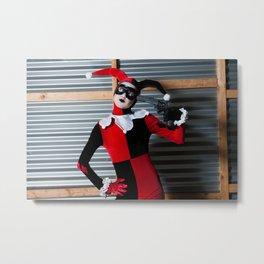 Harley Quinn Cosplay Metal Print