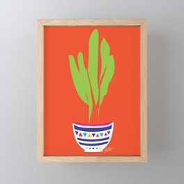 Cactus Mexico Bright Simple Contemporary Pottery Framed Mini Art Print