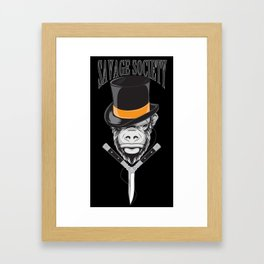 Savage Society: Monocle Monkey Framed Art Print