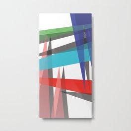 Ambient 19 white Metal Print