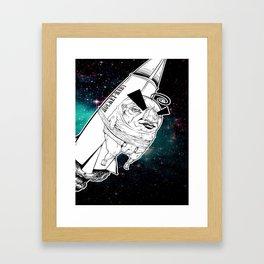 Rocket Baby Framed Art Print