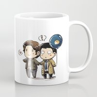 guinea pig Mugs featuring Sam, Cas and the Guinea Pig Balloon by Meinarch