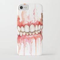 teeth iPhone & iPod Cases featuring Teeth  by Monica Loya