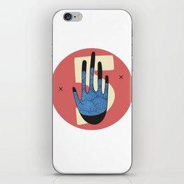 High Five in Blue iPhone Skin